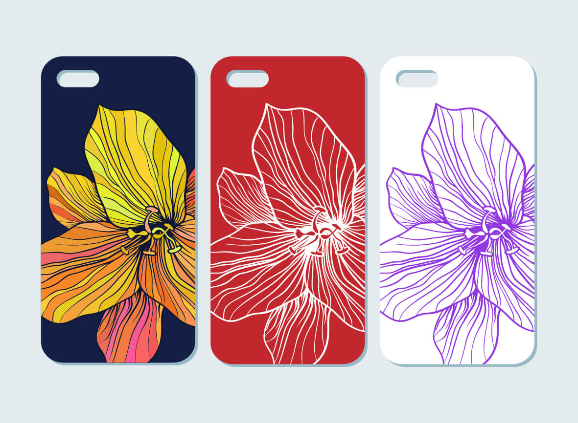 Cell Phone Case Embossed Printing for TPU/ABS/PC/GLASS